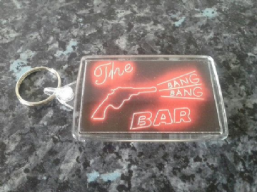 Twin Peaks Jumbo Keyring. The Bang Bang Bar Neon Sign. Roadhouse